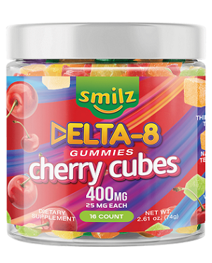 Smilz Delta 8 Gummies Cherry Cubes